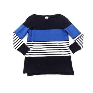 Kate Spade New York blue striped tunic top